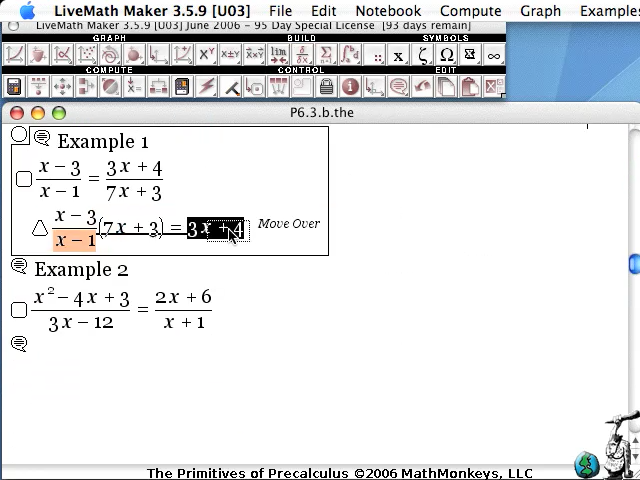 video screenshot solving equations inequalities livemath